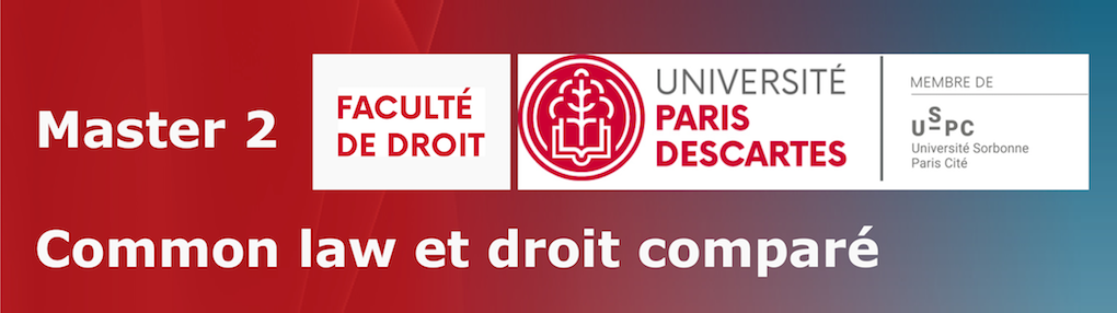 Master de Common Law et de droit comparé